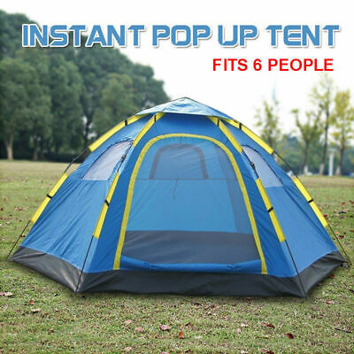 AU54 • Buy 6 Person Instant Pop Up Camping Tent Easy Sets Hiking Camping Outdoor Blue Camo