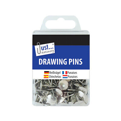£2.19 • Buy Drawing Pins Assorted Colours - Assorted Silver Gold Board Office School Notice