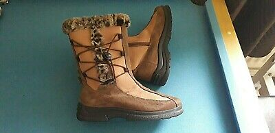 £29.99 • Buy Women's ROHDE SYMPATEX Brown Suede Fur Lined Boots Size UK 5.5 - GREAT CONDITION