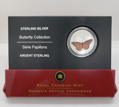 $32 • Buy Canada 2005 50 Cent Colored Monarch Butterfly Silver Proof Coin
