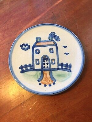 $9.99 • Buy M A Hadley Stoneware Pottery Country House Hand Painted Signed 6