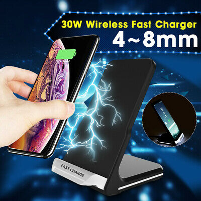 AU17.99 • Buy 30W Qi Fast Wireless Charger Charging Dock Stand For IPhone 12 Pro Max 11 XS AU