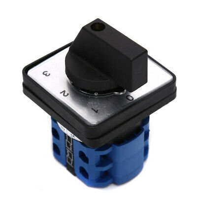 £5.48 • Buy 440V 20A 4-Position 0-1-2-3 Rotary Selector Changeover Switch Stock LW26-20/H^dm