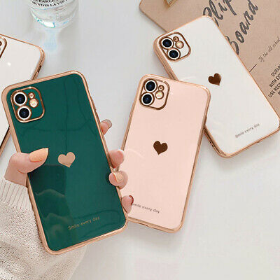 £4.69 • Buy Girl's Cute Heart Shockproof Phone Cover Case For IPhone 11 12 Pro Max XR 8 7 SE