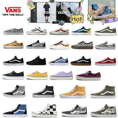 £19.91 • Buy All Size Skate Old School Skater Shoes Men&Women Lo Top Trainer Canvas Sneakers