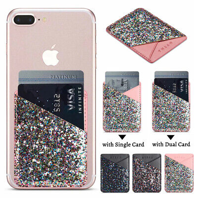 AU6.25 • Buy For IPhone 12 Pro Max 11 8 7 6+ Xr Phone Wallet Stick On Credit Card Holder Case