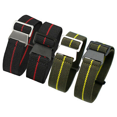 £8.99 • Buy French Military Diver Marine Nationale Elasticated Nylon Watch Straps: 20mm 22mm