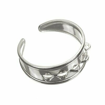 £8.54 • Buy Sterling Silver 925 Adjustable Charm Ring With 5 Loops 18mm  (D70/15)