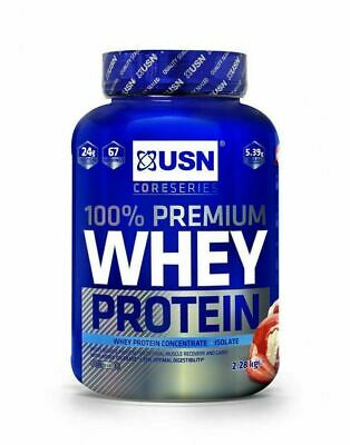 £44.75 • Buy USN 100% Premium Whey Protein 2.28kg; Concentrate & Isolate
