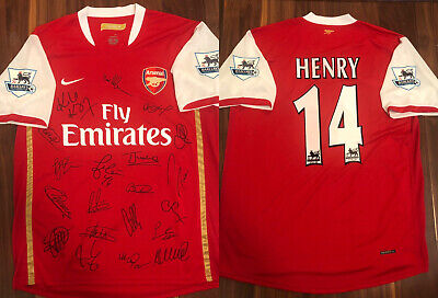 £230.10 • Buy Thierry Henry Arsenal 2006/2008 Nike Home 2006/07 Signed Autographed Jersey (XL)