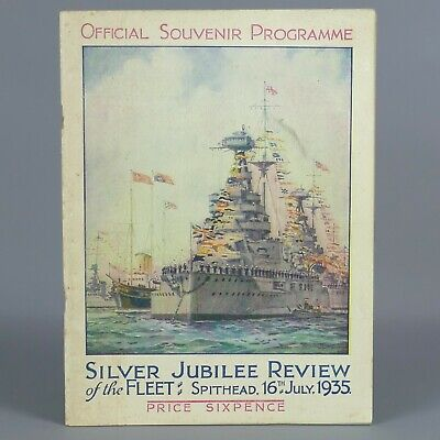 £14 • Buy Silver Jubiliee Review Of The Fleet 16th July Spithead 1935 Programme      131