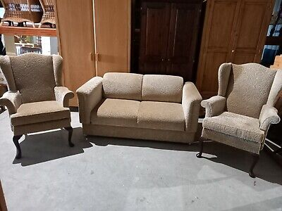 £499 • Buy Parker Knoll Beverley 3 Peicesuite 2 Seater Sofa Bed PK1103 & 2 Wingback Chairs