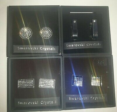 £29.99 • Buy 4 X NEXT SWAROVSKI CRYSTAL CUFFLINKS - ALL NEW AND UNUSED WITH BOXES
