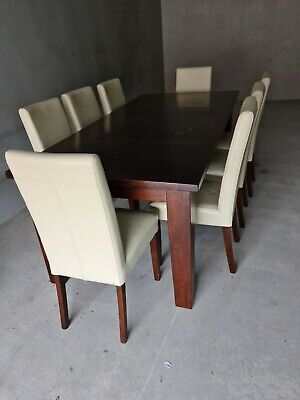 AU110 • Buy Solid Timber Dining Table With 8 Chairs And Bar Stools