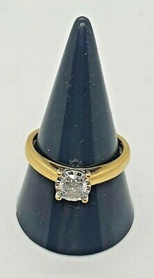 £499.99 • Buy STUNNING 18ct Yellow Gold Solitaire Diamond Ring 50pts 3.49g Size P EGL Cert