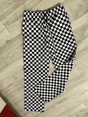 £10 • Buy Checked Chef Trousers Size S/M