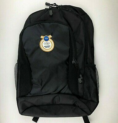 £14.52 • Buy Procter & Gamble P&G Olympics Black Backpack Patch Back Pack Worldwide Partner