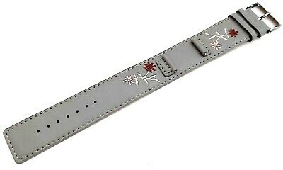 £6.99 • Buy Kahuna Womens Highly Durable Grey Flower Pattern Pu Cuff Style Watch Strap