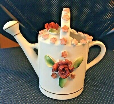 £5.25 • Buy Pretty Vintage Porcelain Watering Can Ornament Foreign.
