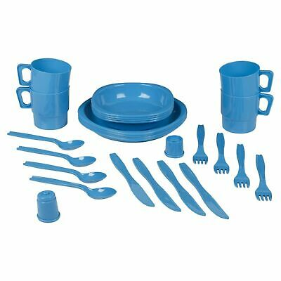 £12.99 • Buy 26pc Plastic Picnic Set Outdoor Camping Mug Party Dinner Plate Camping Cutlery