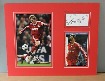 £75 • Buy Fernando Torres Signed Liverpool 20x16  Photograph Mounted Display COA (754)