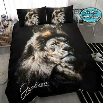 £56.65 • Buy Lion Cool King Personalized Name Bedding Set