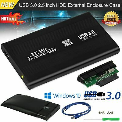 £5.29 • Buy USB 3.0 To SATA Hard Drive Enclosure Caddy Case For 2.5  Inch SSD HDD External
