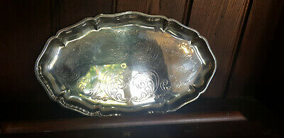 £6.50 • Buy Vintage Small Silver Plated Engraved Shallow Dish / Tray