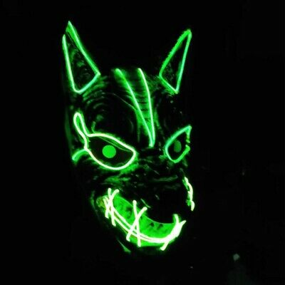 £9.59 • Buy LED Mask Neon Stitches Wolf Wire Light Up Costume Halloween Party Purge Cosplay
