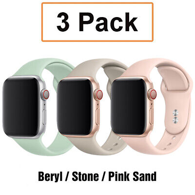 AU9.99 • Buy For Apple Watch 6 5 4 2 3 1 IWatch SE 38 44mm 3 Pack Silicone Sport Band Strap