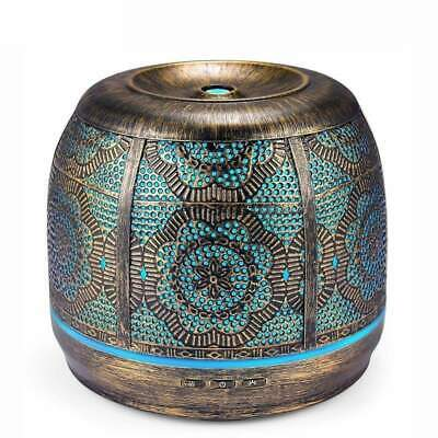 AU132.04 • Buy Aroma Diffuser 500ml Bronze Metal Aromatherapy Diffuser For Essential Oil 7