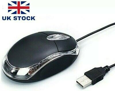 £3.09 • Buy Wired Usb Optical Mouse For Pc Acer Laptop Computer Scroll Wheel Black Mice UK
