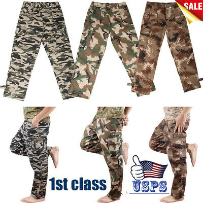 $15.79 • Buy Men's Tactical Trousers Combat Outdoor Military Cargo Pants Army Loose 4 Pocket