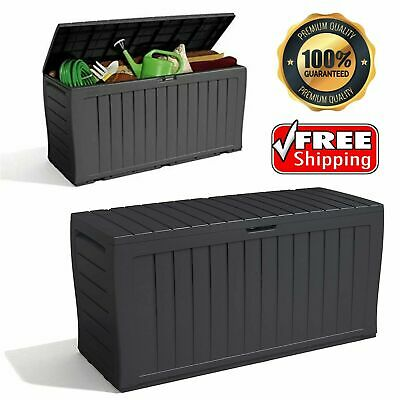 £56.79 • Buy Keter XL Large Storage Shed Garden Outdoor Box Lockable Outside Box With Wheels