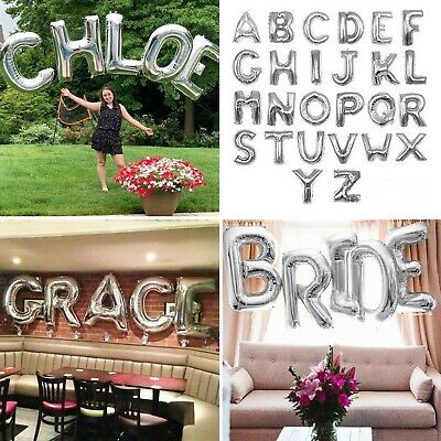 £2.49 • Buy Letter Balloons LARGE 40 Inch SILVER Helium Or Air Foil Birthday Wedding Party