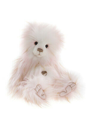 £80 • Buy Official Charlie Bears Tina Collectable Bear - 17  Pink White Fully Jointed 2021