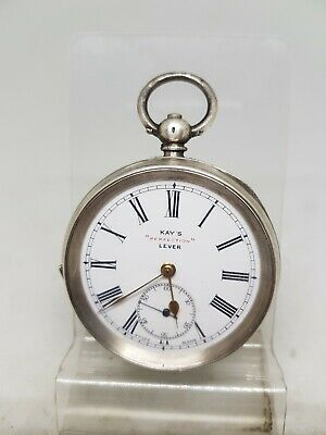 £70 • Buy Antique Solid Silver Gents Kay's Perfection Lever Pocket Watch C1900 W/O Ref1648