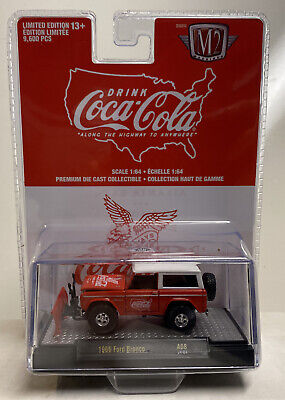 $11.99 • Buy M2 Machines Coca Cola Release A08: 1/64 1966 Ford Bronco With Plow