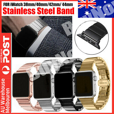 AU14.95 • Buy Butterfly Buckle Link Bracelet Stainless Steel Watch Band For Apple Watch Iwatch
