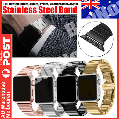 AU15.95 • Buy Butterfly Lock Link Bracelet Band Strap For Apple Watch IWatch Stainless Steel