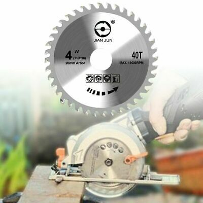 £4.39 • Buy 110mm Circular Saw Blade Disc Wood Cutting 4  40 Teeth Fits For Angle Grinder UK