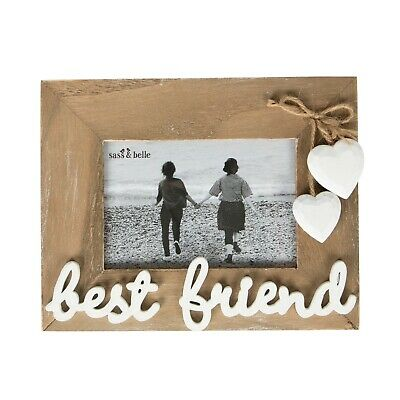 £5.45 • Buy Sass & Belle Natural Wood Best Friend Photo Frame Picture Holder Reduced ToClear