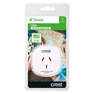 AU15.50 • Buy Crest USA Travel Adaptor-USA, Canada, Thailand And Other Countries
