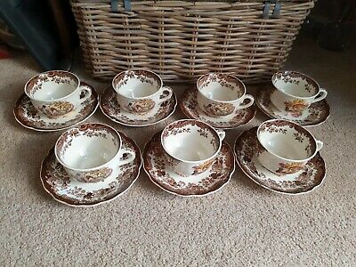£65 • Buy ROYAL WORCESTER PALISSY GAME SERIES Breakfast CUPS & SAUCERS  X 7