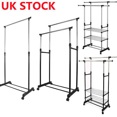 £11.92 • Buy Heavy Duty Clothes Rail Rack Garment Hanging Display Stand Shoe Storage Shelves