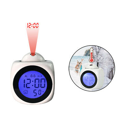 £9.09 • Buy Wall/Ceiling Time Projection LED Digital Alarm Clock Temperature Monitor