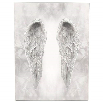 £22.37 • Buy Online Street Glitter Angel Wings Canvas Wall Art Hanging Picture Home Print