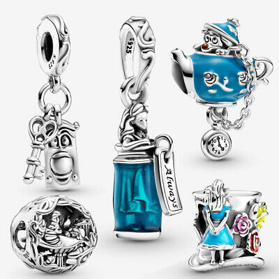 AU15.25 • Buy Disney Alice In Wonderland 925 Sterling Silver Charm Without Pandora Pouch