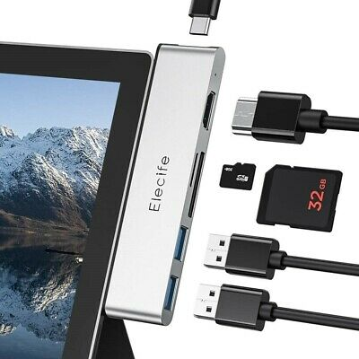 AU55.33 • Buy Surface Pro 7 Docking Station, 6 In 2 USB C Hub Adapter 4K HDMI With Dual USB...