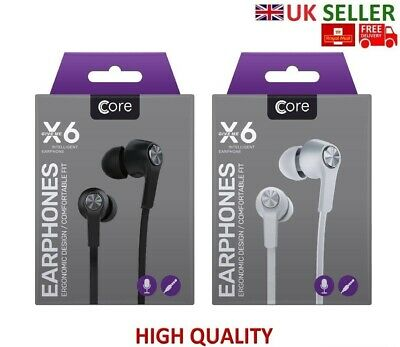 £4.49 • Buy Core X6 Super Bass Stereo Headphone, Earphone, Earbuds, Handsfree For Any Device